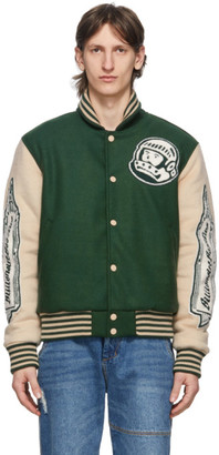 Billionaire Boys Club Green Astro Varsity Jacket