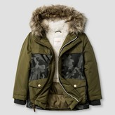 Cat & Jack Toddler Boys' Camo Parka with Sherpa Lining Cat & Jack - Green