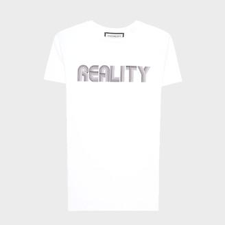 Roqa White Reality T Shirt - L - White/Black