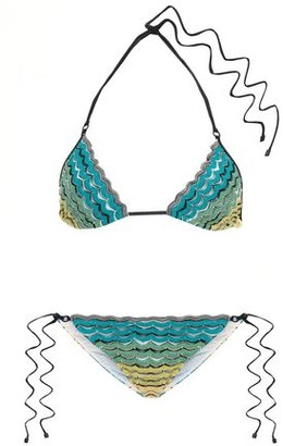 Missoni Mare Mare Degrade Crochet-knit Triangle Bikini