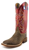 Justin Boots Bent Rail Riding Boots Men Square Toe Leather Western Boot.
