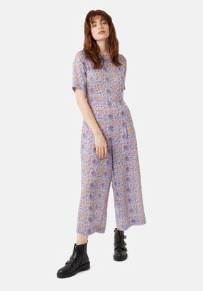 Traffic People Bianca Boho Printed Jumpsuit In Purple