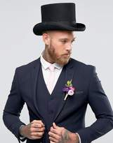 Asos Top Hat In Black Felt