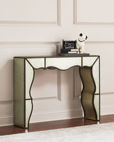 Hooker Furniture Garth Eglomise Mirrored Console Table
