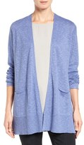 Eileen Fisher Women's Organic Linen & Cotton Open Front Cardigan