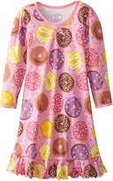 Sara's Prints Little Girls' Cotton Puffed Sleeve Gown