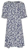 Dorothy Perkins Womens Blue Peplum Shift Dress, Blue