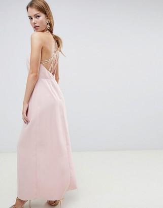 Asos Design DESIGN open back maxi dress