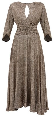 Maria Lucia Hohan Kalea Sequinned Chiffon Midi Dress - Bronze