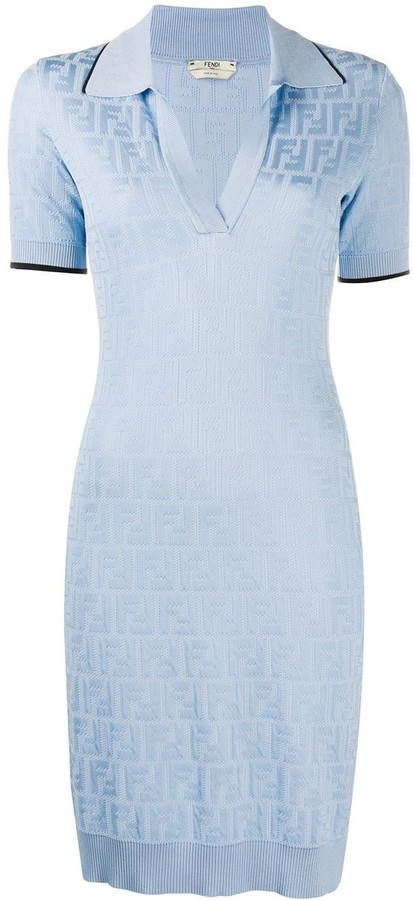 Fendi FF print polo dress