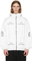 Ueg White Tyvek® Logo Hooded Jacket