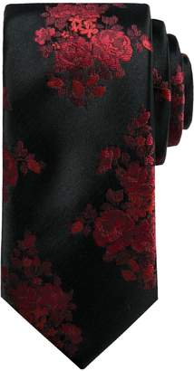 Apt. 9 Men's Floral Skinny Tie with Tie Bar