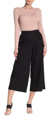 ECI Pleated Linen Blend Trousers