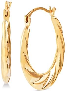 Macy's Small Swirl Hoop Earrings in 14k Gold