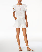 J.o.a. Ruffled Cutout Top