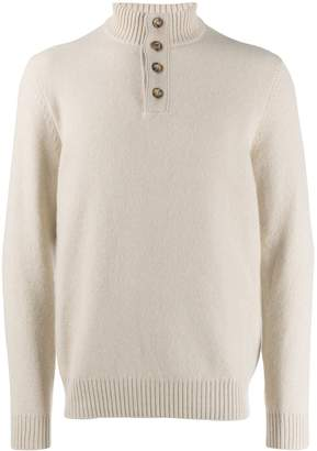 Loro Piana button up sweatshirt
