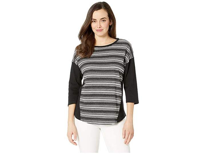 3-4 Sleeve Boat Neck Top