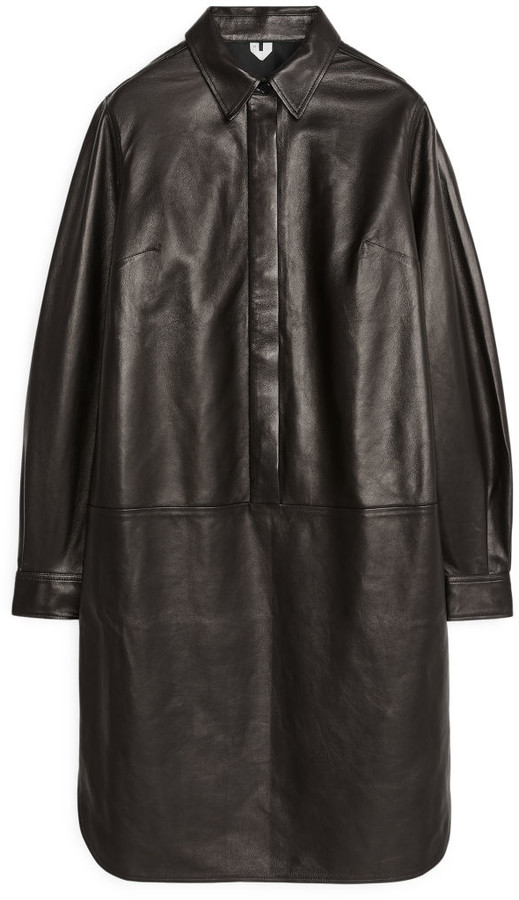 Arket Leather Shirt Dress