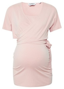 Dorothy Perkins Womens Dp Maternity Pink Wrap Top, Pink