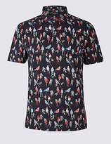 Limited Edition Pure Cotton Printed Polo Shirt
