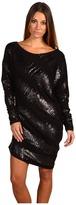 Mark & James by Badgley Mischka Mark James Black Sequin Sleeved Mini (Black) - Apparel