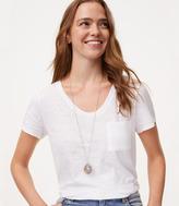 LOFT Faceted Stone Pendant Necklace