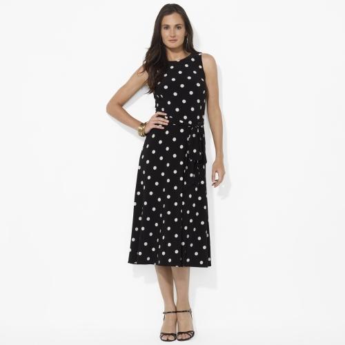 Ralph Lauren Polka-Dot Crewneck Dress