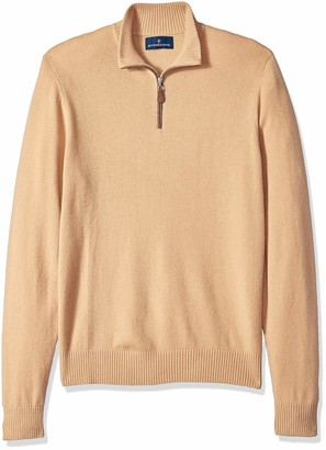 Buttoned Down Amazon Brand Men's 100% Premium Cashmere Quarter-Zip Sweater