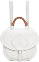 Maison Margiela White Leather Satchel Backpack