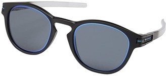 Oakley Borderline Latch Collection (Matte Black Fade w/ Prizm Grey Sapphire Alt Iridium) Sport Sunglasses