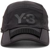 Yohji Yamamoto Foldable Cap in Black.