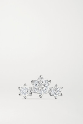 Maria Tash Flower Garland 3mm 18-karat White Gold Diamond Earring