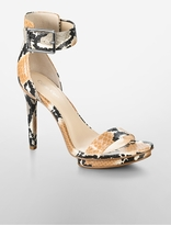 Calvin Klein Vivian Colored Snake Print Platform Sandal