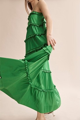 Country Road Silk Tiered Dress