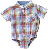 """Andy & Evan Nothing Else Madras"""" Shirtzie (Baby) - Red-18-24M"""