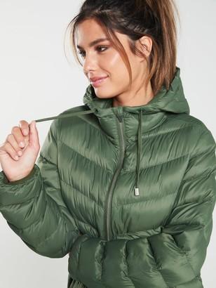 Trespass Rianna Long Padded Jacket - Basil Green