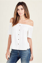 True Religion Dobby Off The Shoulder Womens Top