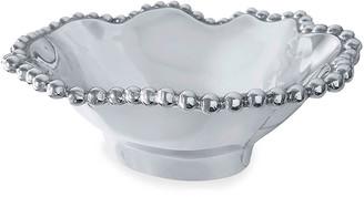 Mariposa Pearled Wavy Medium Oval Bowl