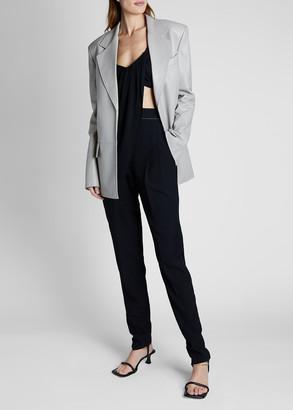 Proenza Schouler Leather Long-Sleeve Blazer Jacket