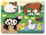 Melissa & Doug ; Farm Animals Touch and Feel Textured Wooden Puzzle
