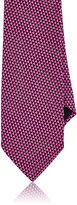 Barneys New York Men's Geometric-Print Silk Necktie-PURPLE