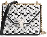 Bvlgari + Nicholas Kirkwood Embellished Leather Shoulder Bag - White