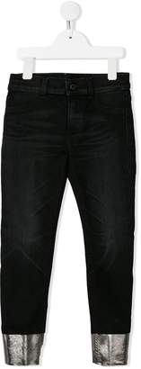 Dondup Kids metallic hem jeans