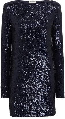 Saint Laurent Sequined minidress