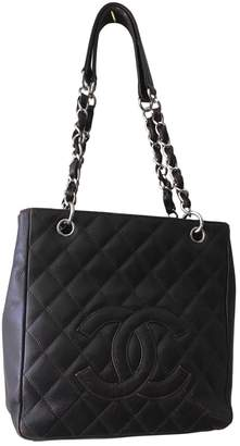 Chanel Petite Shopping Tote Brown Leather Handbags