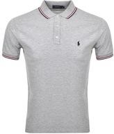Ralph Lauren Tipped Custom Polo T Shirt Grey