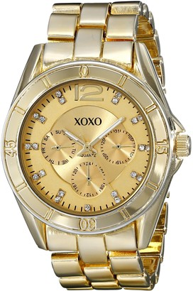 XOXO Women's XO5655 Gold-Tone Bracelet Analog Watch