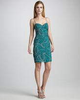 Studded Beaded Cocktail Dress