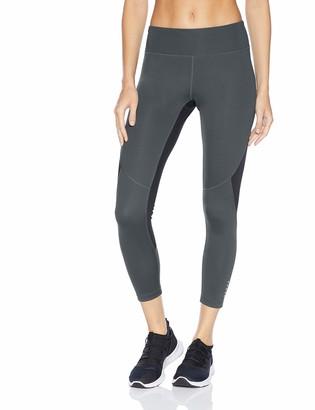 Core 10 Amazon Brand Women's Size Race Day Colorblock Run 7/8 Crop Legging-24