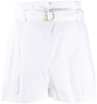 Patrizia Pepe Belted High-Waist Shorts